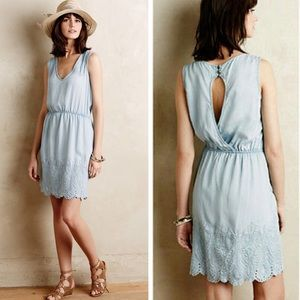 Holding Horses Anthropologie Chambray Dress